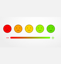 feedback or rating satisfaction appraisal with vector image
