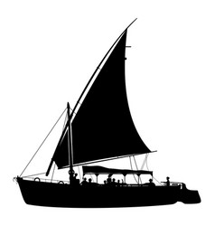 Felucca with tourists vector
