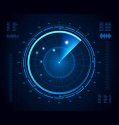 futuristic radar military navigate sonar army vector image