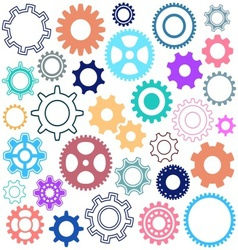 Gear wheels vector