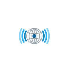 globe wifi logo icon design vector image