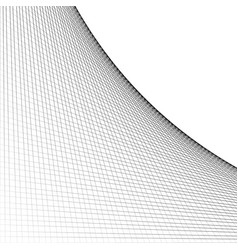 Grid mesh of intersecting lines with curve arc vector