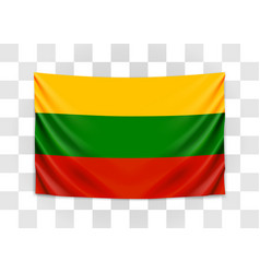 hanging flag lithuania republic lithuania vector image
