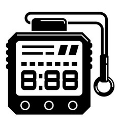hiking digital clock icon simple style vector image