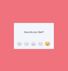 How do you feel mood meter emotional perception vector