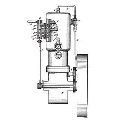 Internal combustion engine vintage vector