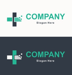 Logo for accounting company vector image