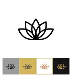 Lotus icon lotos calm and harmony pictograph vector