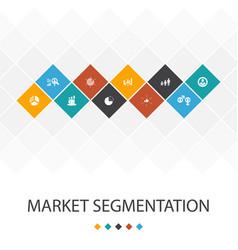 Market segmentation trendy ui template vector