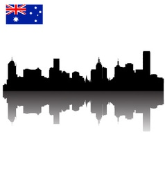 Melbourne silhouette skyline vector