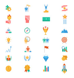 motivation icons motivated business signs vector image