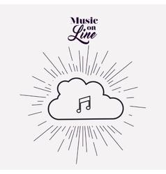 music on line design vector image