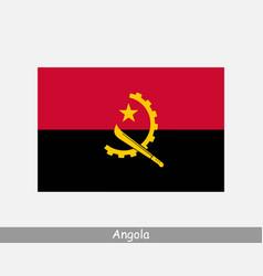 National flag angola angolan country flag vector