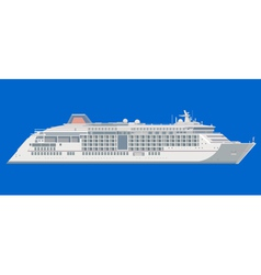 Ocean liner on a blue background vector