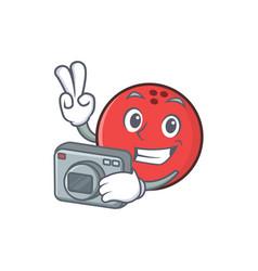 Photography bowling ball character cartoon vector