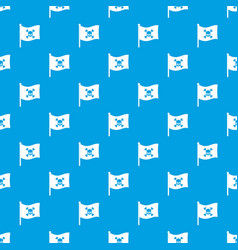 pirate flag pattern seamless blue vector image