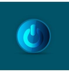 Power blue button vector