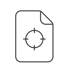 Printing registration mark linear icon vector