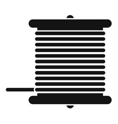 Radio wire bobine icon simple style vector