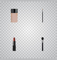Realistic pomade beauty accessory brow makeup vector