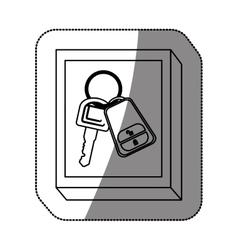 Remote control car key vector image
