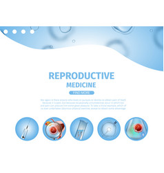 Reproductive medicine banner copy space icons vector