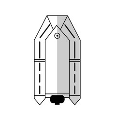 Rescue boat icon vector