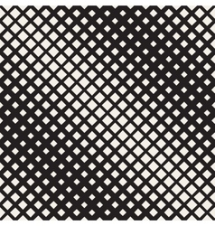 Seamless Black And White Diagonal Halftone vector image