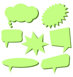set of light green speech bubbles vector image