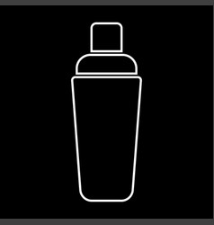 shaker white color icon vector image