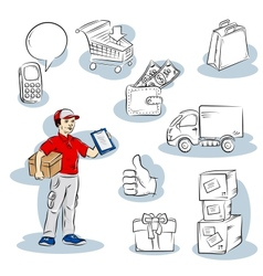 Shopping delivery vector image