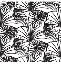 Silhouette black palm leaves seamless vector
