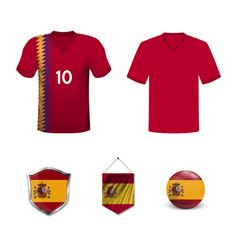 Spain football uniform vector