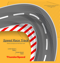 speed road with tire tracks vector image
