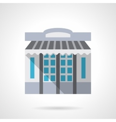 Stationery store facade flat color icon vector image