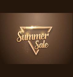 summer sale banner lettering template vector image