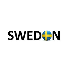 sweden signature with national flag of vector image