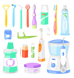 toothbrush dental hygiene tooth brush vector image