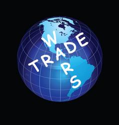 Trade wars planet earth vector