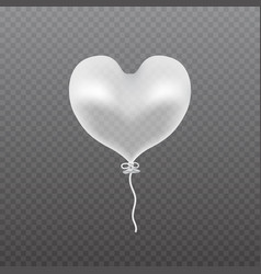 Transparent balloon frosted party balloon vector