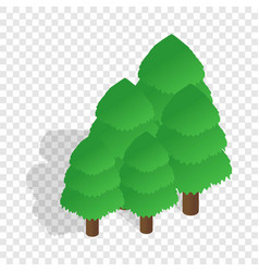 Trees isometric icon vector