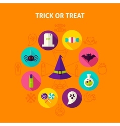 Trick or Treat Infographic Concept vector image