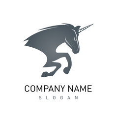 unicorn logo vector image