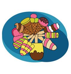 ice cream design set vector image