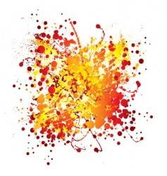ink splat design vector image