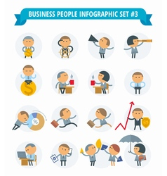 men business icons vector image vector image