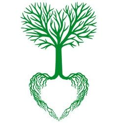 tree of life green heart tree vector image vector image