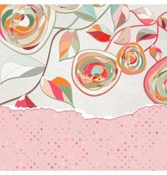 Vintage Floral Copy Space Card vector image