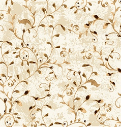 vintage seamless texture with foliate ornament vector image vector image