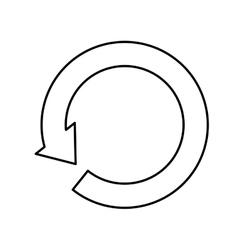 Arrow round cycle vector